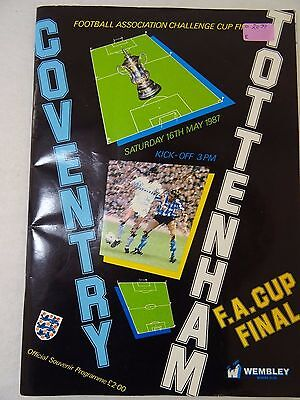 F.A. Cup Final 1987 programme Coventry versus Tottenham
