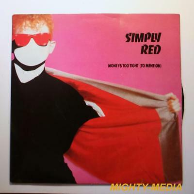 "SIMPLY RED  - MONEYS TOO TIGHT (TO MENTION)  - 7"" Vinyl Record : EX (p374)"