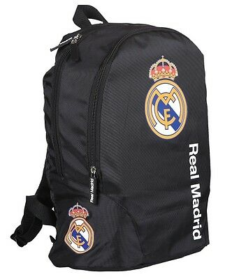 """REAL MADRID School Bag BACKPACK Football Fan Sports Travel Backpack Official 17"""""""