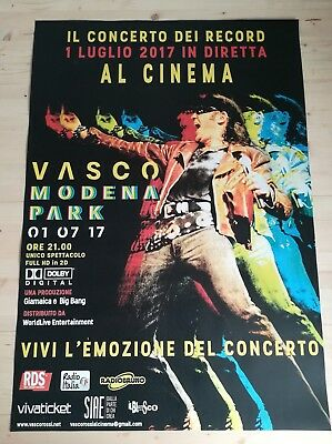 VASCO ROSSI MODENA PARK 2017 Poster Evento Cinema Manifesto Officiale 70x100