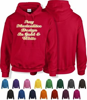 "Music Hoody 36"" Small - 52"" 2XL With Any MusicaliTee Design"