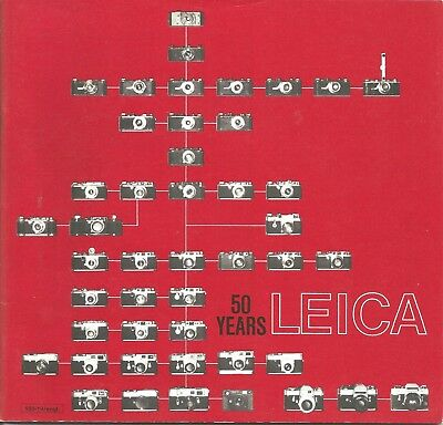 Leica 50 Years Booklet / Brochure, 47 Pages, Printed in W. Germany