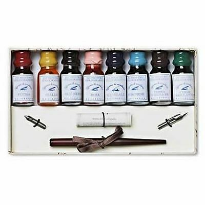 Calligraphy Set, Wooden Pen and Inks Set, Great Gift (1860)
