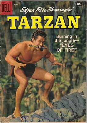 Tarzan Comic Book #105, Dell Comics 1958 FINE-