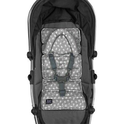Outlook - Mini Pram Liner with Head Support - Grey Birds