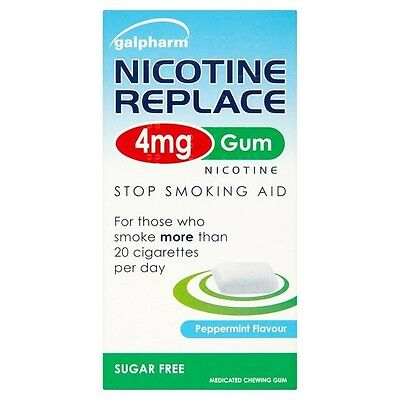 Galpharm Nicotine Replace 4mg Gum Stop Smoking Aid Replace all your Cigarettes