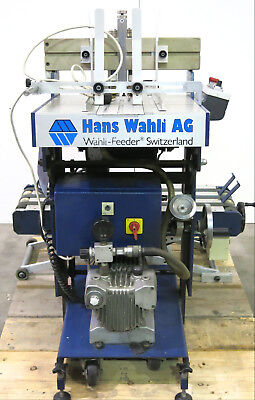 Hans Wahli AG K527 Wahli-SO-Feeder Vacuum Envelope Feeder with Scissor Conveyor