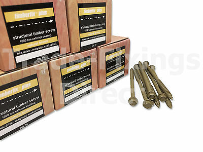 FULL CASE OF 6.3mm TIMBERFIX PLUS STRUCTURAL/LANDSCAPING SLEEPER SCREWS