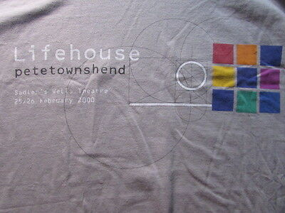 Pete Townshend Lifehouse Xl Shirt Sadler's Wells Theatre Feb 25/26 2000 Megarare