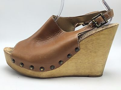 03afc4dc67f7 3A6 Sam Edelman Camilla Leather Clogs Open Toe Platforms Women Shoes Size  10M