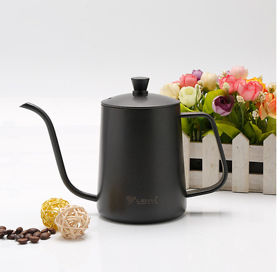 Coffee Pot  With Cover Stainless Steel Stove Teflon Cofe Pot Drip Kettle 600ml