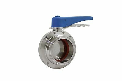 3'' OD Sanitary Butterfly Valve Multi-Position Handle SS316L Tri Clamp NEW
