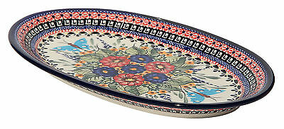 Polish Pottery Oval Platter From Zaklady Boleslawiec 1264/149ar