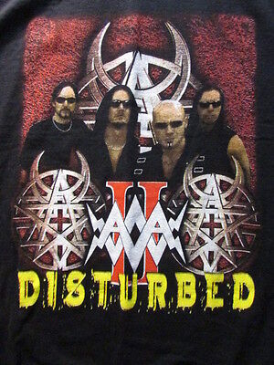 Disturbed Music As A Weapon Ii 2003 Concert Tour L Shirt Taproot Chevelle - New