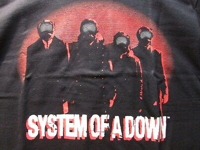System Of A Down Facemasks Medium 1 Sided Concert Shirt Pre-Shrunk 100% Cotton