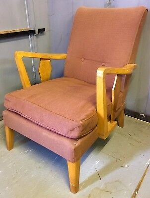 Rare vintage Parker Knoll style occasional open armchair (ref 17.7.108)