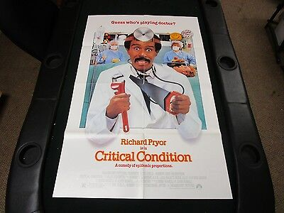 One sheet 27x41 Movie Poster Critcal Condition 1986 Richard Pryor Rachel Ticotin