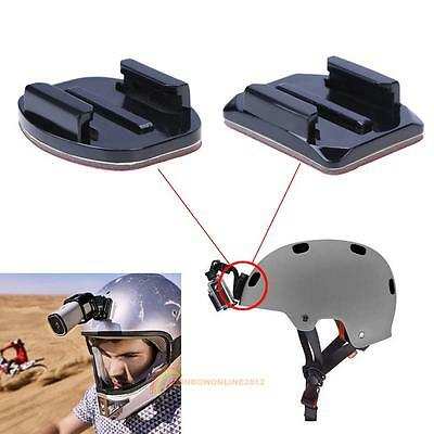12pcs 3m Adhesive Mounts for GoPro Hero 5 4 Flat Curved/Square Base Helmet Mount