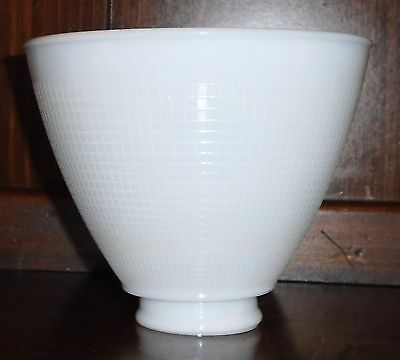 Small Torchiere Milk Glass Stiffel Rembrandt Lamp Waffle Diffuser 2 1/8 fitter