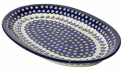 Polish Pottery Oval Platter From Zaklady Boleslawiec 1265/166a