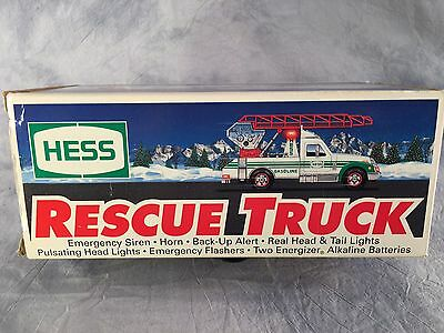 Hess Truck 1994 Rescue Toy Truck with Extension Ladder Lights and Sounds NIB