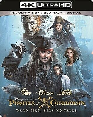 PIRATES OF THE CARIBBEAN 5 DEAD MEN TELL  (4K ULTRA HD) - Blu Ray -  Region free