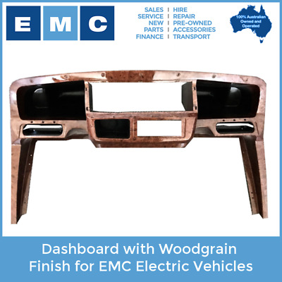 Dashboard in Woodgrain Finish for EMC Golf Carts