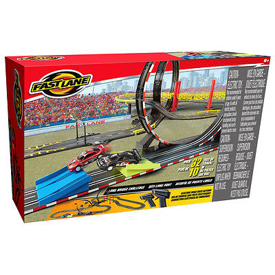 Fast Lane Electric Power Long Bridge Challenger Road Racing Set