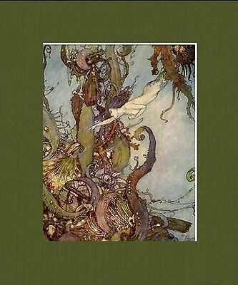 Ethereal Matted Classic Fantasy Art * Edmund Dulac * The Little Mermaid