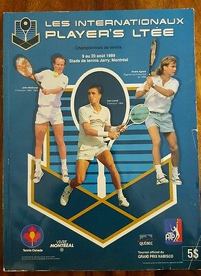 Rare 1989 special edition Player's tennis in Montreal - McEnroe, Lendl , Agassi