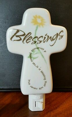 adeline collection porcelain night light - blessings