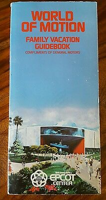 GM world of motion vacation guide 1985 (Walt Disney Epcot center on cover)