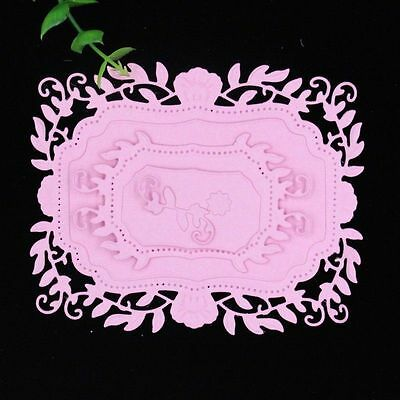 Flower Frame Metal Cutting Dies Stencil Scrapbooking Paper Card Embossing Craft