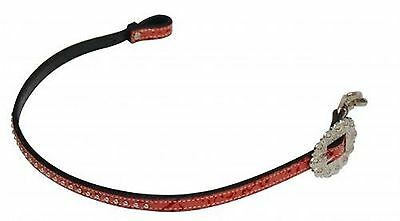 Showman Studded Leather Wither Strap W/ PINK Filigree Print! NEW HORSE TACK!