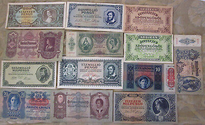 Great Hungarian Banknote Collection ,world currency paper money