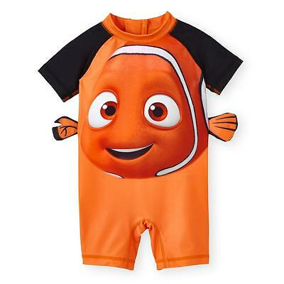New Disney Baby Finding Nemo Swimming Shirt UPF 50 Romper Size 3-6 Months