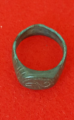 P15:Roman Empire: NICE  AUTHENTIC  Ancient  Bronze Ring Jewelry Artifact