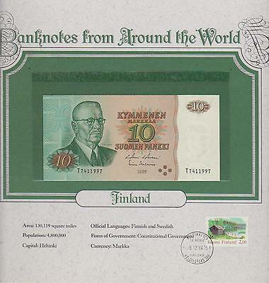 1980 Finland 10 Markkaa Pick 111 Banknotes Around The World T7411997 Unc