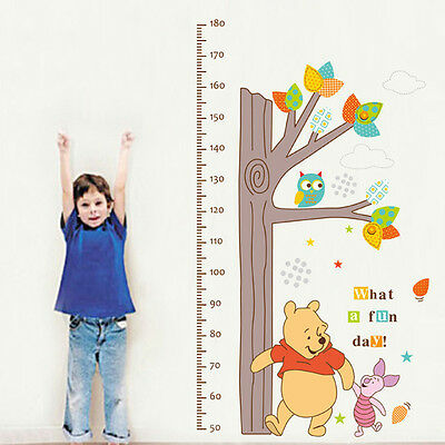 diy Winnie The Pooh Tree Height Chart Wall Sticker Mural Decal Kids Room Decor