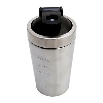 1PCS Stainless Steel Protein Mixer Blender Shaker Shaking Cup Water Bottle FW
