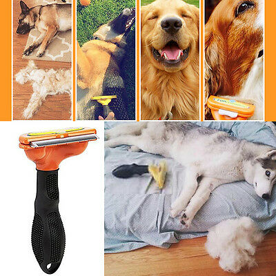 Medium Small Dog DeShedding Pet Grooming Brush for Long Hairs Combs Clean Tools