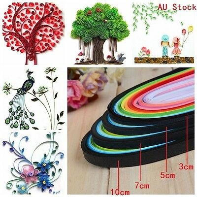 AU STOCK Quilling Paper Origami Crafts 1040 Strips 26 Colors 390mm DIY Materials