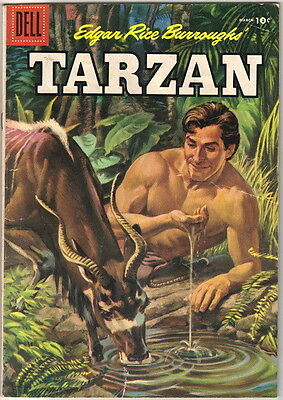 Tarzan Comic Book #78, Dell Comics 1956 VERY GOOD