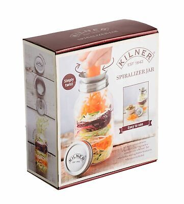 NEW KILNER SPIRALIZER JAR Spiral Ribbons Vegetables Zoodles Noodles Spaghetti