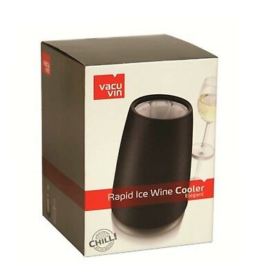 NEW VACUVIN ACTIVE WINE COOLER Chill Chiller Bucket ELEGANT BLACK