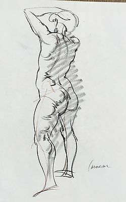 Harry Carmean drawing of standing female model 1970's