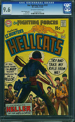 OUR FIGHTING FORCES #121 CGC 9.6 1st Heller of the Hellcats! Joe Kubert cover!