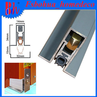 Aluminum Automatic Door Bottom Seal Weather Stripping Draught Excluders M011
