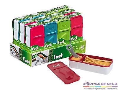 REUSABLE SNACK AND DIP CONTAINER Lunch Bag Eco Storage Picnic Flip Case BPA FREE