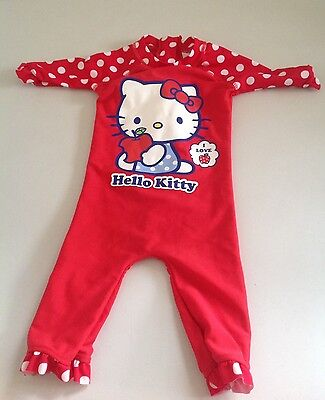 Sanrio Hello Kitty All In One Swimsuit Age 9-12 Months Ex Con❤️